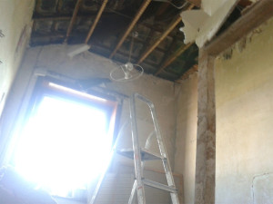 home renovation, demolishing walls, demolition, renovation, no ceiling