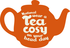 National wear tea cosy on your head day, white stuff, charity, charity event