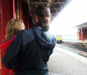 Deansgate station, trains, going home