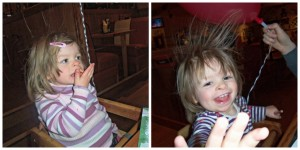 frankie and bennys, preston, static from balloon, eating out