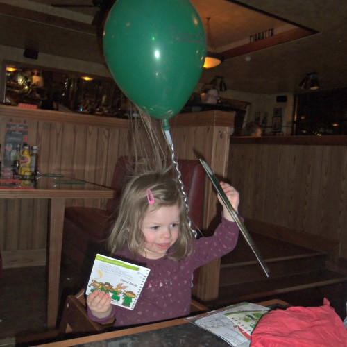 frankie and bennys, eating out, dining out, balloon and static