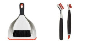 oxo good grips, oxo, cleaning, dustpan and brush, deep clean brushes,