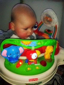 jumperoo, fisher price jumperoo, fisher price, almost five month old baby, baby, baby bouncer