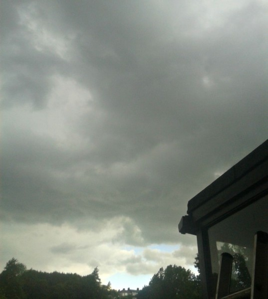 I can see the blue sky...it is coming!