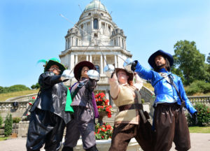 the three musketeers, dukes theatre, lancaster, outdoor performance, performance, show